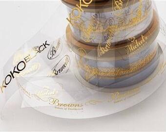 25mm Clear Personalised Printed Ribbon  - Weddings - Birthdays - Celebration - Cake Ribbon