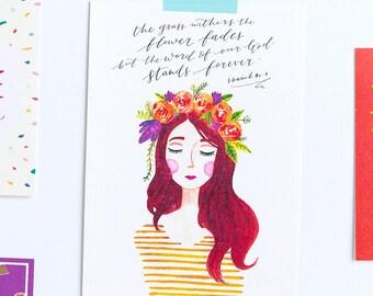 BLOOM Lady #1: Esther / Postcard
