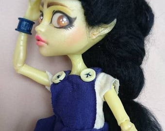 Ooak Custom Monster High Doll inspired by Minions / Minia