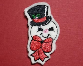 Snowman Feltie - Machine Embroidery Design