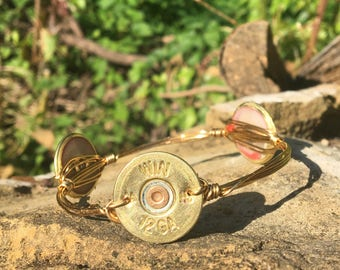 Shotgun shell bangle bracelet