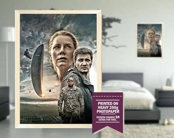 Arrival poster, fan art, arrival print, arrival, digital style, cool posters, cool GIFTS, arrival fan art, arrival movie, cool gift ideas