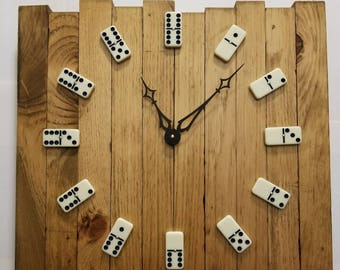 Handmade Dominos Wall Clock