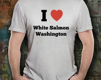 I Love White Salmon Tee Shirt