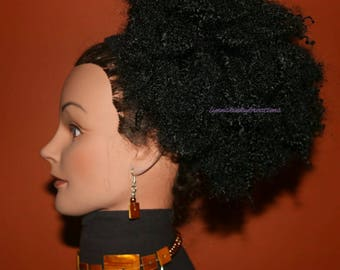 "READY TO SHIP //Synthetic handmade afro kinky crochet ponytail ""Afro Ponytail"""