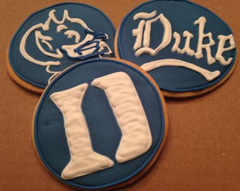 Duke Blue Devils | Cookie favors | College mascot | NCAA March Madness