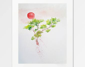 Clorofila - Fine Art Print of original watercolor illustration