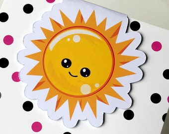 Magnetic Bookmark. Sun Magnetic Bookmark. For books, planners and notebooks.