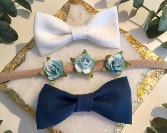 Blue rose trio set