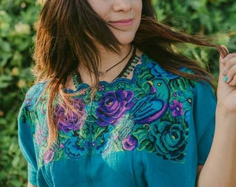 Embroidered hand/craft/boho blouse blouse top