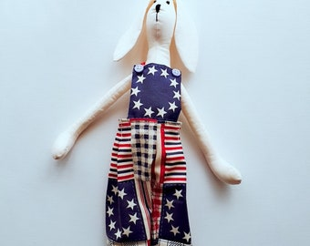 Easter Bunny, Interior doll, handmade doll, fabric doll, soft toy, OOAK doll, Bunny doll, Tom Bunny