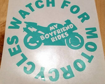 Motorcycle OR Streetbike Awareness decal