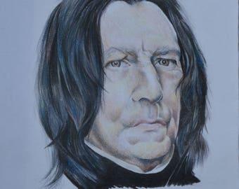 Signed A5 Severus Snape Print