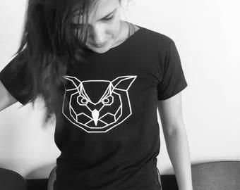 Geometrical owl T-shirt