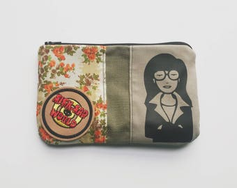 You're Standing On My Neck - Daria Cosmetic Bag, Travel Pouch with Sick Sad World Patch
