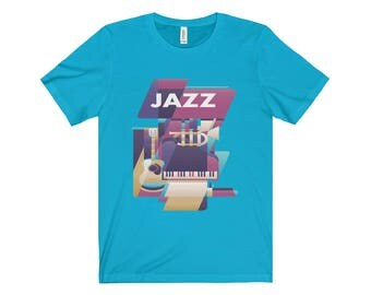 Jazz Design Unisex Jersey Short Sleeve Tee