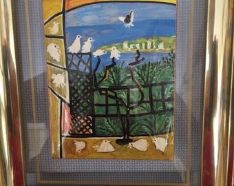 Pablo Picasso Convex Framed Art