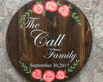Custom Family Round Sign