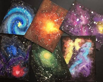 Galaxy, original watercolor