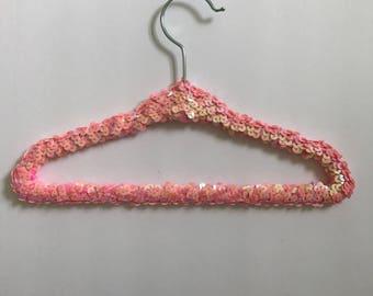 Sequin Hanger, Childrens Hanger, Fancy Hanger, boutique hanger, Sequin, Wedding Hanger, Gold, Silver, Pink, Red