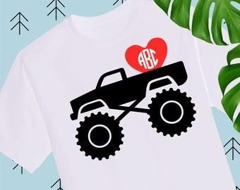 Boy Valentine SVG Valentine Truck Svg Valentines Day svg Valentine Shirts for Boys svg files for cricut silhouette truck svg cricut explore