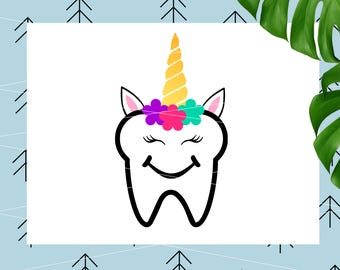 Teeth SVG Unicorn for Tooth Fairy Bags Tooth svg Tooth Fairy Svg Create your own svg for Cricut Silhouette Cutting File svg dxf png eps lfvs
