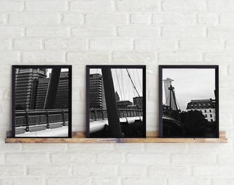 Black and White Photo, Black and White Wall Art, Printable, Printable Art, Instant Digital Download, Print Set, Frankfurt Photo Set