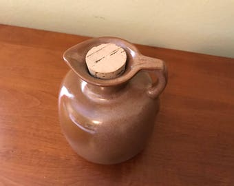 Vintage Frankoma Brown Honey Jug - #833