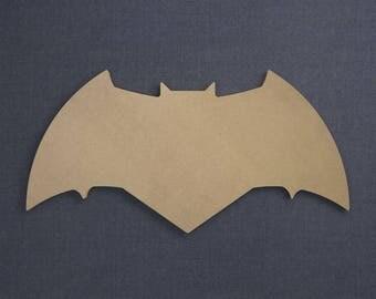 Batman Logo (Current), Wood Cutout, Unfinished Sign
