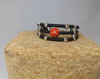 Black triple Cork bracelet