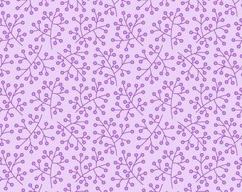 Bloom Flower Stigmas on Purple Fat Quarter Cotton Fabric (UK)