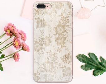 iPhone Case Flowers Clear Phone Case iPhone 7 Case iPhone 6 Case iPhone 6s Case iPhone 5s Case iPhone 4 Case Phone SE Cover TPU CA1025