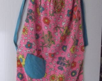 Vintage Childs Handmade Terry Apron Smock 1960's 1970's Little Girl
