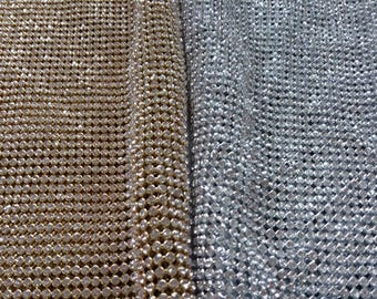 Rhinestone sheets / rhinestone fabric , 44 inches long and 15 inches wide stone size 4mm iron-on