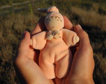 Custom small Waldorf doll - Ready to ship