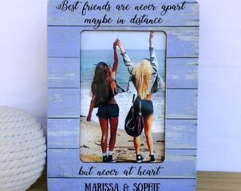 Personalized Long Distance Friendship Frame Gift Custom Picture Frame Best Friends are never Apart Quote Gift Long Distance Gift