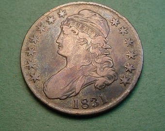 Scarce 1836 Capped Bust 50 C Error Coin