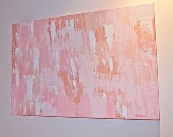 Heartfelt Pastel Pinks - 51cm (W) x 76cm (H) x 3.8cm (D)