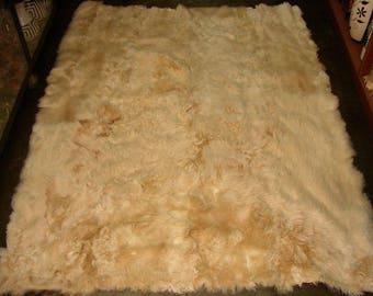 100% Peruvian Baby Alpaca Fur Rug Beige 78.7u0027u0027 ...