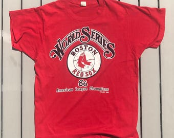 Vintage 80s Boston Red Sox MLB Baseball Shirt