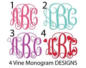 BUNDLE SVG, Interlocking Vine Monogram Font SVG, Vine Monogram Font Cut files, Digital Font Svg files for Silhouette, Cricut, Studio3.