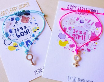 Gender Baby Shower Party Favors • Baby Shower • Baby shower bracelets • Gender bracelets • New baby