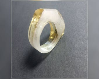 Great, special ring made of resin