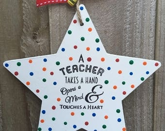Teacher thank you gift present star