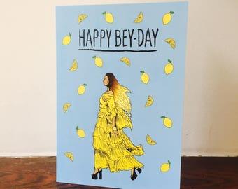 Beyonce Lemonade Inspired A5 Birthday Greeting Card