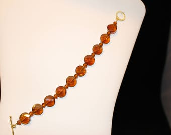 amber colored beads bracelet