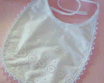 White lace bib San Gallo