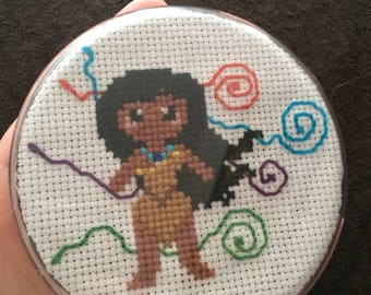 Hand Made Pocahontas Button