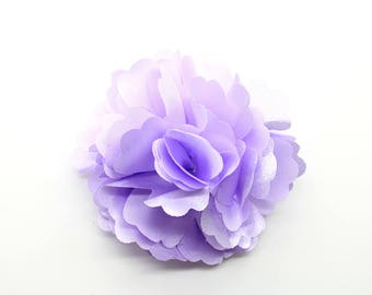 2 Light Purple Rose Flower Baby Girl Hair Clips Brooches 1 Pair