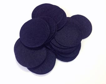 200pcs 40mm Navy Blue Die Cut Round Felt Circles Patches Pad Sewing Craft Supplies